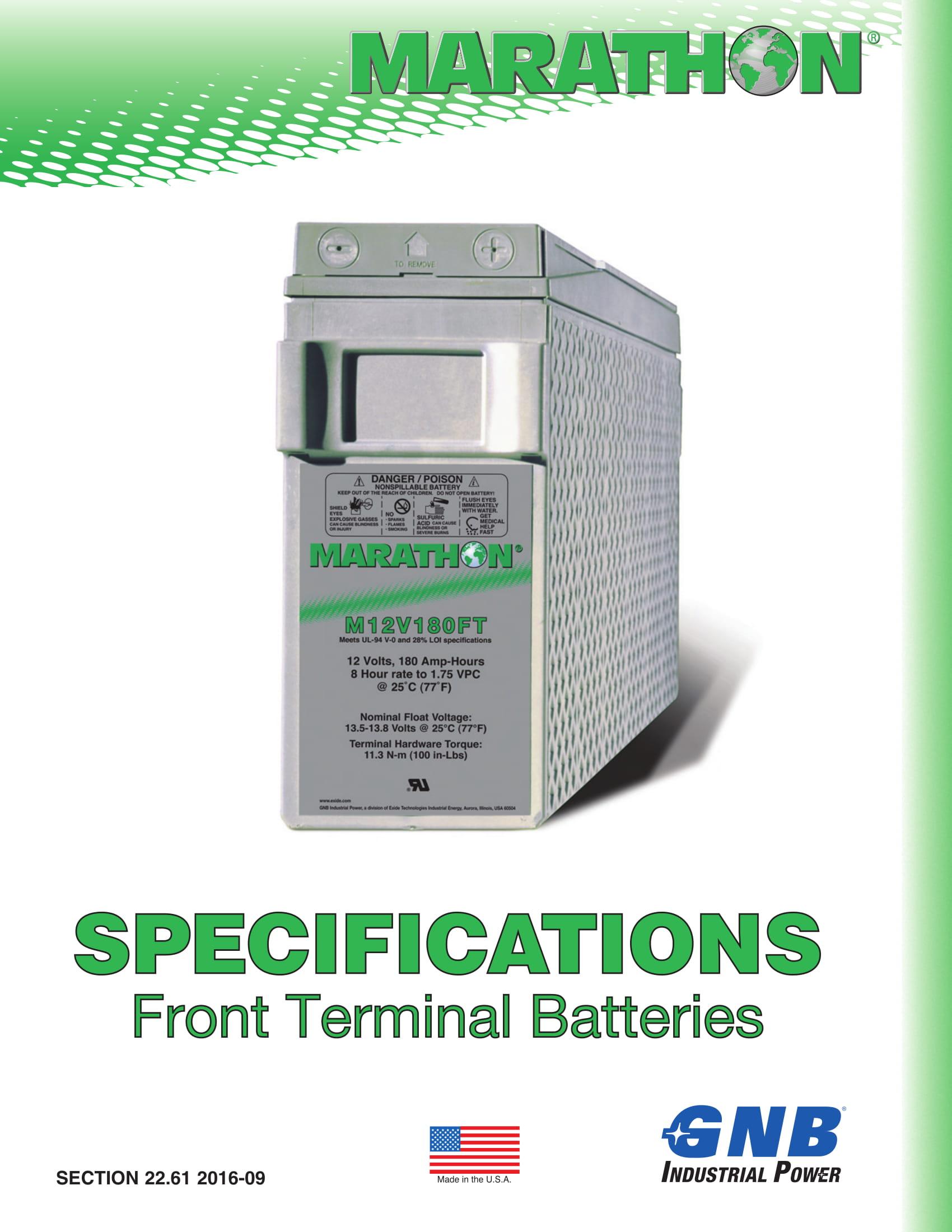 Marathon Batteries Front Terminal 1